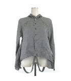 キャピタル kapital ギンガムチェック えもんシャツ 長袖  K1604LS180 コットン 黒 白 ブラック ホワイト グレー XS