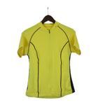 ナイキ NIKE サイクリング シャツ 半袖 ロゴ プリント メッシュ ストレッチ ポリ イエロー 黄 M