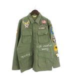 アヴィレックス AVIREX JUNGLE FATIGUE U.S.アーミー ジャングル ファティーグシャツ M-65 刺繍 ワッペン 緑系 カーキ M