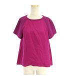 フェンディ FENDI カットソー ブラウス 半袖 プルオーバー ラグラン シルク 紫 ピンク パープル 40