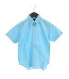 ラルフローレン RALPH LAUREN シャツ 半袖 ボタンダウン 刺繍 ポニー コットン 水色 ライトブルー 150 ボーイズ ガール