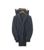 トゥモローランド TOMORROWLAND スーツ フォーマル セットアップ テーラードジャケット シングル 2B スラックス ストライプ ウール 紺 ネイビー 46