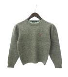 ラルフローレン RALPH LAUREN ニット セーター 長袖 プルオーバー 刺繍 ポニー ウール グレー 160 ガール ボーイズ