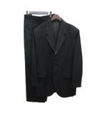 ワイズフォーメン Y's for men ヨウジヤマモト 99AW セットアップ ジャケット パンツ ウールギャバ レザー切替 黒 ブラック 4