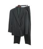 ヴェルサーチ ヴェルサーチェ VERSACE スーツ フォーマル ダブル ストライプ ワイドスラックス チャコール IBS61