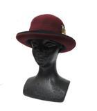 カシラ CA4LA ボーラーハット 帽子 ワッペン リボン ウール エンジ ■VGP0