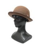カシラ CA4LA ボーラーハット 帽子 リボン ウール 茶 ブラウン ■VGP0