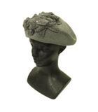カシラ CA4LA ベレー帽 帽子 ビジュー コットン グレー