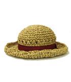 カシラ CA4LA ストローハット ペーパーハット 帽子 リボン ベージュ