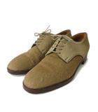 エルメス HERMES ブーツ 短靴 5ホール プレーントゥ ハラコ  ベージュブラウン 36.5 IBS67