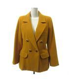 コート ジャケット ヴィンテージ オールド ウール 38 黄 イエロー オレンジ系 IBS94