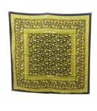 エルメス HERMES カレ 90 スカーフ CHASSE EN INDE インドの狩猟 トラ 馬 象 シルク 黄 イエロー 黒 ブラック