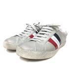 スニーカー ライン レースアップ 37 白 ホワイト 靴 シューズ