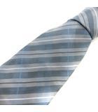 ヴィヴィアンウエストウッド Vivienne Westwood ネクタイ レギュラータイ レジメンタルストライプ シルク 水色 ライトブルー