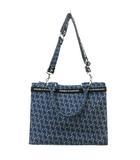 ダブルスタンダードクロージング ダブスタ DOUBLE STANDARD CLOTHING 19AW 0600120193 2way ショルダーバッグ ハンドバッグ モノグラム インディゴ 青 ブルー 鞄