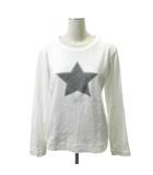 ダブルスタンダードクロージング ダブスタ DOUBLE STANDARD CLOTHING 19SS 0508-200-191 Tシャツ カットソー 長袖 ストーン 星 スター 38 白 ホワイト