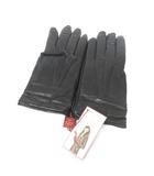 デンツ DENTS レザー グローブ ウール 手袋 黒 ブラック 8 レディース
