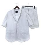 ハレ HARE セットアップ シャツ ジャケット 半袖 ハーフ パンツ ショート ストライプ HA030159TR 白 ホワイト S