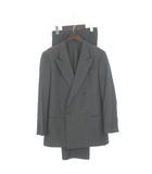 アルマーニ コレツィオーニ ARMANI COLLEZIONI スーツ セットアップ ダブル ジャケット スラックス ウール シルク グレー 52 ◇