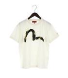 エヴィス EVISU YAMANE Tシャツ 半袖 カモメ ワッペン クルーネック カモフラ 迷彩柄 白 オフホワイ 40 ☆AA★