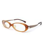 フォーナインズ 999.9 メガネ 眼鏡 セルフレーム オーバル 度入り 茶 NPM-30-4108 オレンジ ブラウン 52□16 135