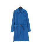 ランバン LANVIN コート スプリング ステンカラー ベルト 青 ブルー 46 アウター