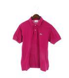 ラコステ LACOSTE ポロシャツ 半袖 鹿の子 ワンポイント ピンク系 3