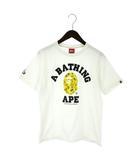 アベイシングエイプ A BATHING APE PEANUTS コラボ Tシャツ 半袖 プリント ロゴ 白 ホワイト S