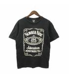 ナンバーナイン NUMBER (N)INE 03AW カート期 Tシャツ 半袖 プリント コットン 黒 ブラック 3