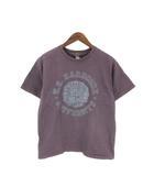 ナンバーナイン NUMBER (N)INE Tシャツ 半袖 カットソー クルーネック プリント ロゴ バーガンディ 3