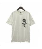 ナンバーナイン NUMBER (N)INE 05AW THE HIGH STREET ハイストリート 期 Tシャツ 半袖 バッジ プリント ダメージ加工 コットン 白 ホワイト 4