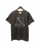 ナンバーナイン NUMBER (N)INE 01AW STANDARD スタンダード期 Tシャツ 半袖 穴あき加工 エンブレム コットン チャコール 4