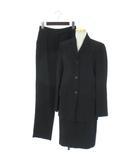 クリッツィア KRIZIA スーツ セットアップ 3点セット ストライプ パンツ スカート ウール混 黒 ブラック 40