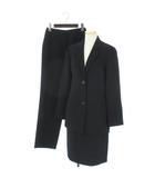クリッツィア KRIZIA スーツ セットアップ 3点セット パンツ スカート ウール混 フォーマル 黒 ブラック 40