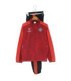 アディダス adidas セットアップ マンチェスターユナイテッド  プレゼンテーションスーツ ジップアップ ジャケット パンツ 15/16 UCL AC1505 男の子 赤 黒 150