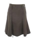 ラルフローレン RALPH LAUREN スカート ひざ丈 フレア ツイル シンチバック 茶 ブラウン 7