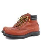 レッドウィング REDWING 8804 ブーツ ワーク ショート モックトゥ 現行タグ USA製 レザー 茶色 ブラウン 27.5 靴