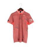 オークリー OAKLEY 18SS SKULL BREATHEABLE WOVEN SHIRTS ポロシャツ 半袖 総柄 ゴルフウエア 434180JP ピンク系 M
