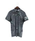 オークリー OAKLEY 18SS SKULL BREATHEABLE WOVEN SHIRTS ポロシャツ 半袖 総柄 ゴルフウエア 434180JP グレー系 L