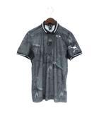 オークリー OAKLEY 18SS SKULL BREATHEABLE WOVEN SHIRTS ポロシャツ 半袖 総柄 ゴルフウエア 434180JP グレー系 M