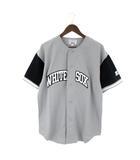 STARTER WHITE SOX ベースボール シャツ 半袖 ユニフォーム メッシュ グレー ブラック L