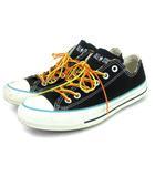コンバース CONVERSE オールスター スニーカー ローカット キャンバス 黒 ブラック系 25.5 靴