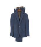 スーツセレクト SUIT SELECT Alfredo Rodina スーツ セットアップ シングル 段返り 3B ウール 紺 ネイビー Y4