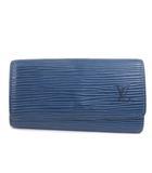 ルイヴィトン LOUIS VUITTON エピ ミュルティクレ4 4連 キーケース M63825 青 ブルー