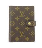 ルイヴィトン LOUIS VUITTON モノグラム アジェンダPM 手帳カバー R20005 茶色 ブラウン