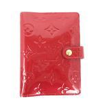 ルイヴィトン LOUIS VUITTON ヴェルニ ポムダムール アジェンダPM 手帳カバー R21016 赤 レッド