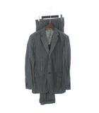 ソブリン SOVEREIGN スーツ セットアップ ロロピアーナ ストライプ ウール リネン混 グレー 50 IBS1