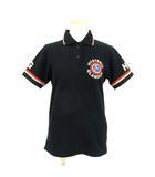 ヒステリックグラマー HYSTERIC GLAMOUR ポロシャツ 半袖 ライン ロゴ 鹿の子 2CH-3970 黒 ブラック FREE