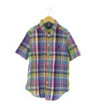 ラルフローレン RALPH LAUREN シャツ 半袖 BD ボタンダウン マドラスチェック マルチカラー M 10-12 ボーイズ 男の子