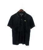 ラコステ LACOSTE EDITION LIMITEE ポロシャツ 半袖 金ワニ ラメ混 黒 ブラック 3 M